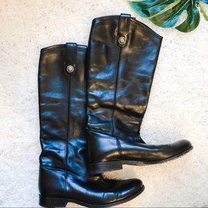 Frye Melissa Button Black Boots